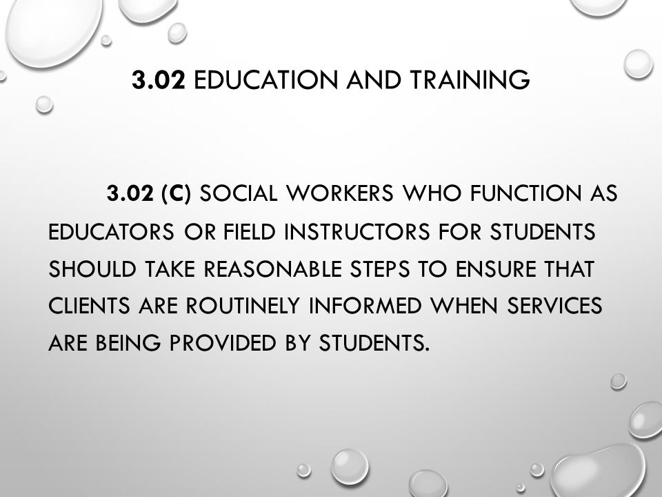 3.02 Education and Training