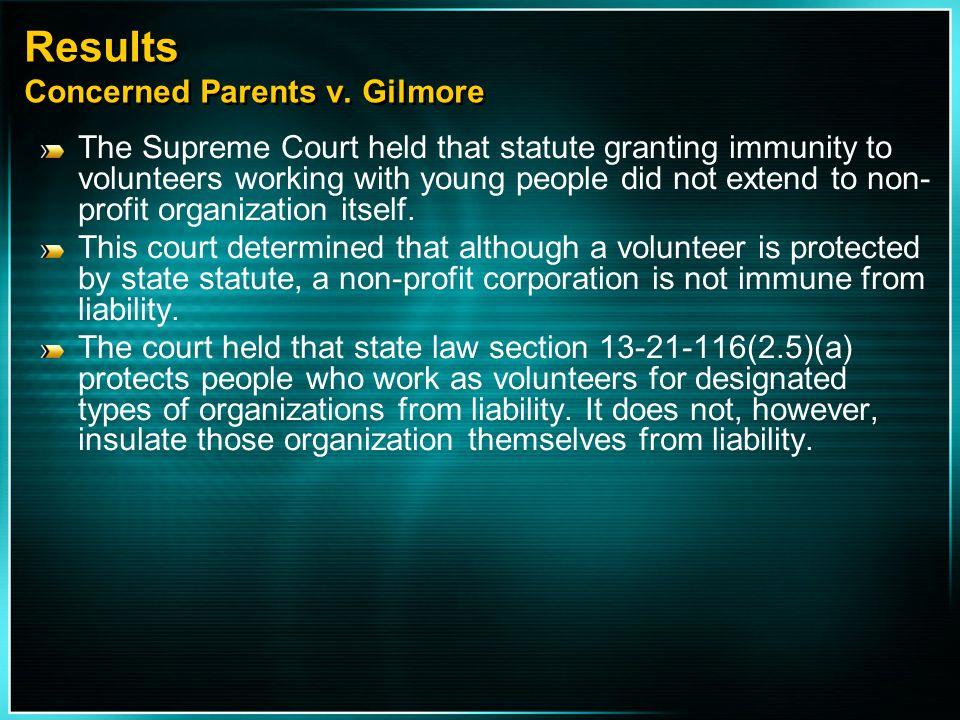 Results Concerned Parents v. Gilmore