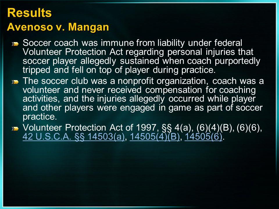 Results Avenoso v. Mangan
