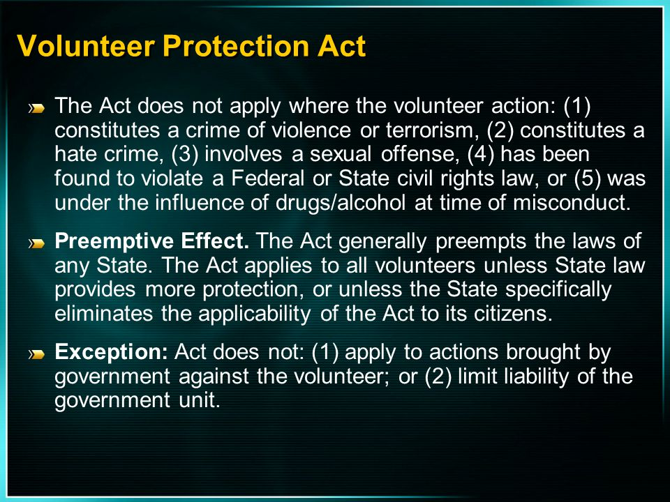 Volunteer Protection Act