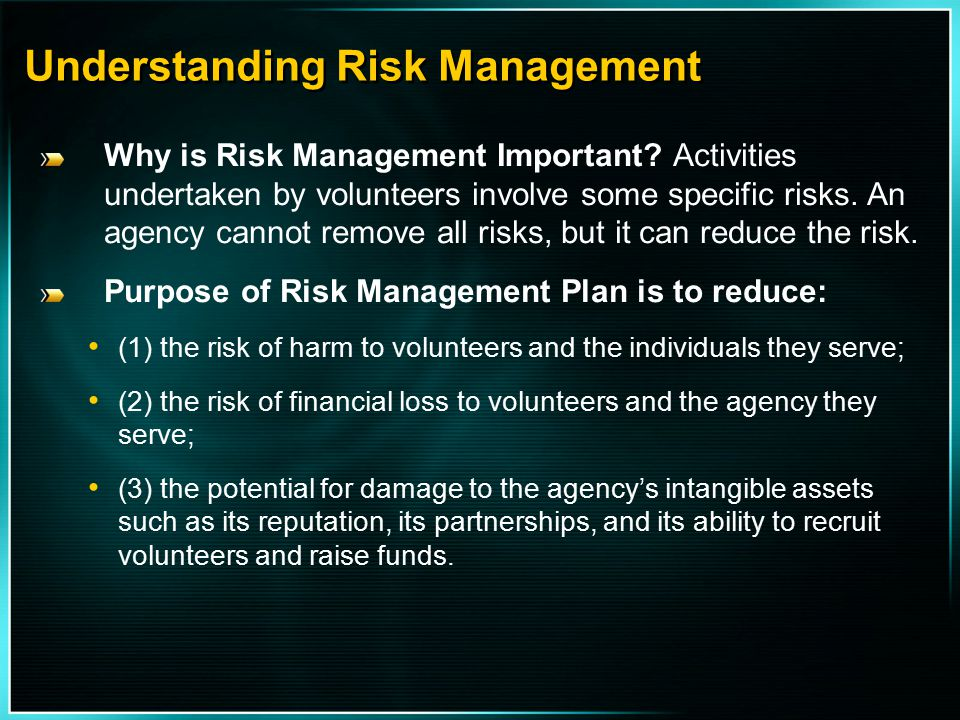 Understanding Risk Management