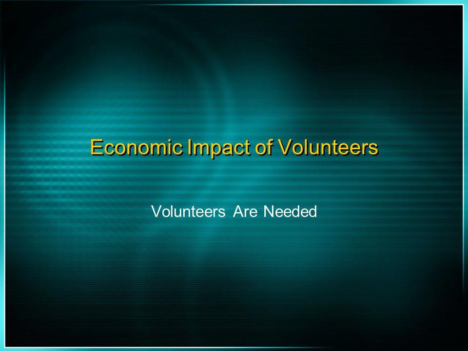 Economic Impact of Volunteers
