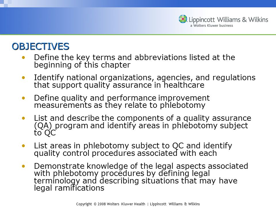 OBJECTIVES Define the key terms and abbreviations listed at the beginning of this chapter.