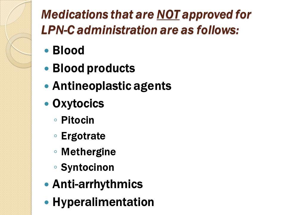 Antineoplastic agents Oxytocics
