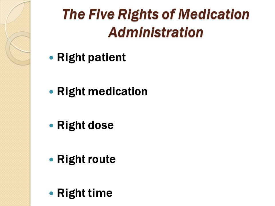 The Five Rights of Medication Administration