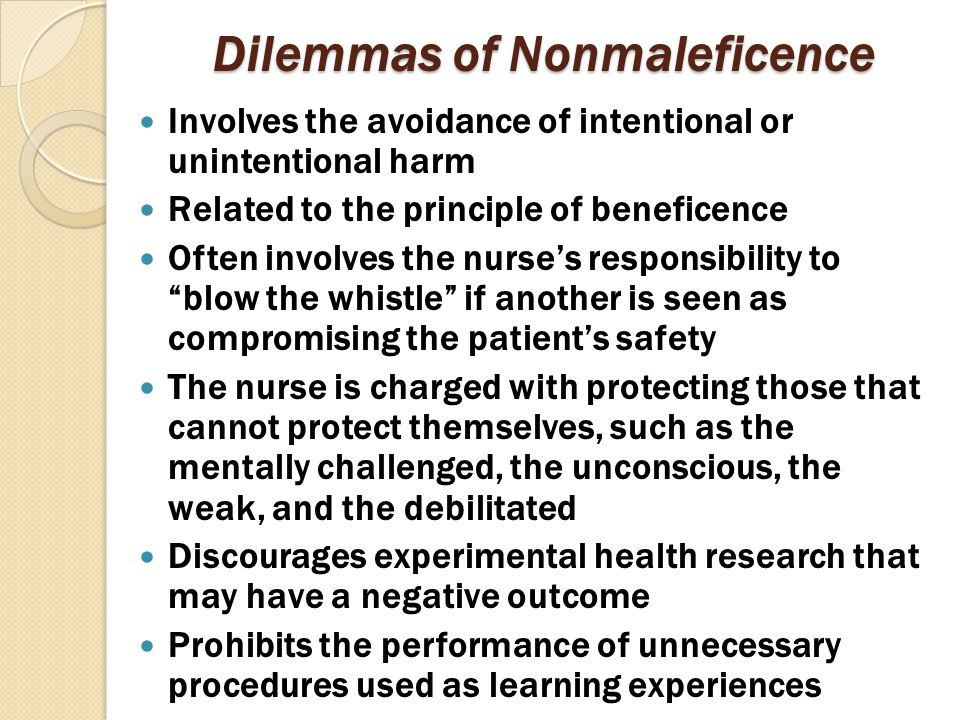 Dilemmas of Nonmaleficence
