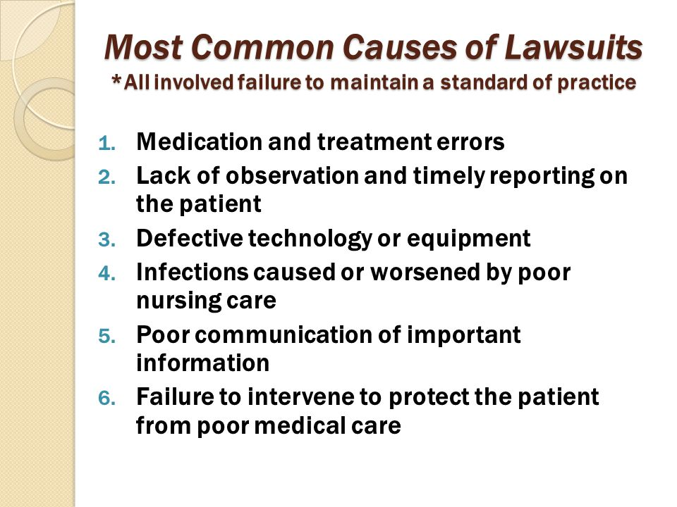 Most Common Causes of Lawsuits