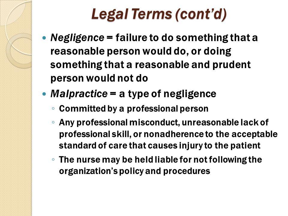 Legal Terms (cont'd)