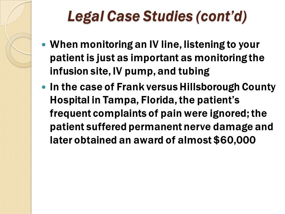 Legal Case Studies (cont'd)