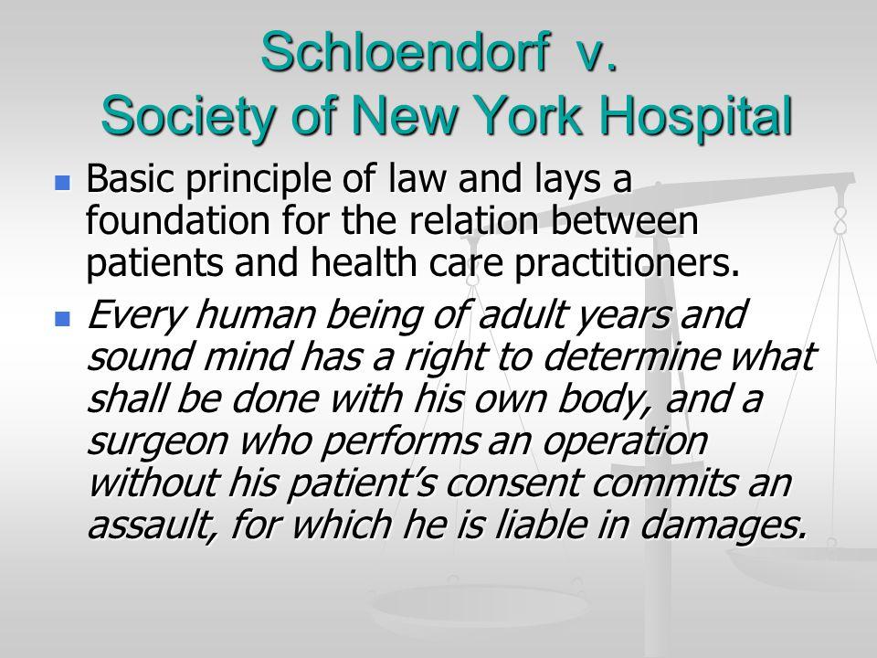 Schloendorf v. Society of New York Hospital