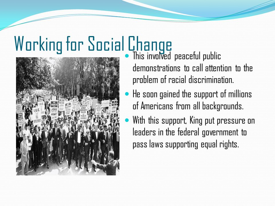 Working for Social Change