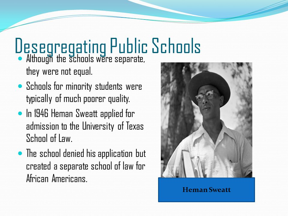 Desegregating Public Schools