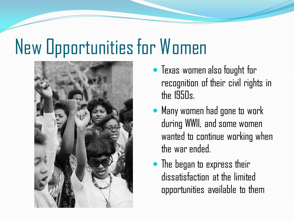 New Opportunities for Women