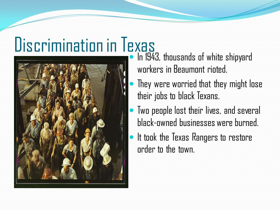 Discrimination in Texas