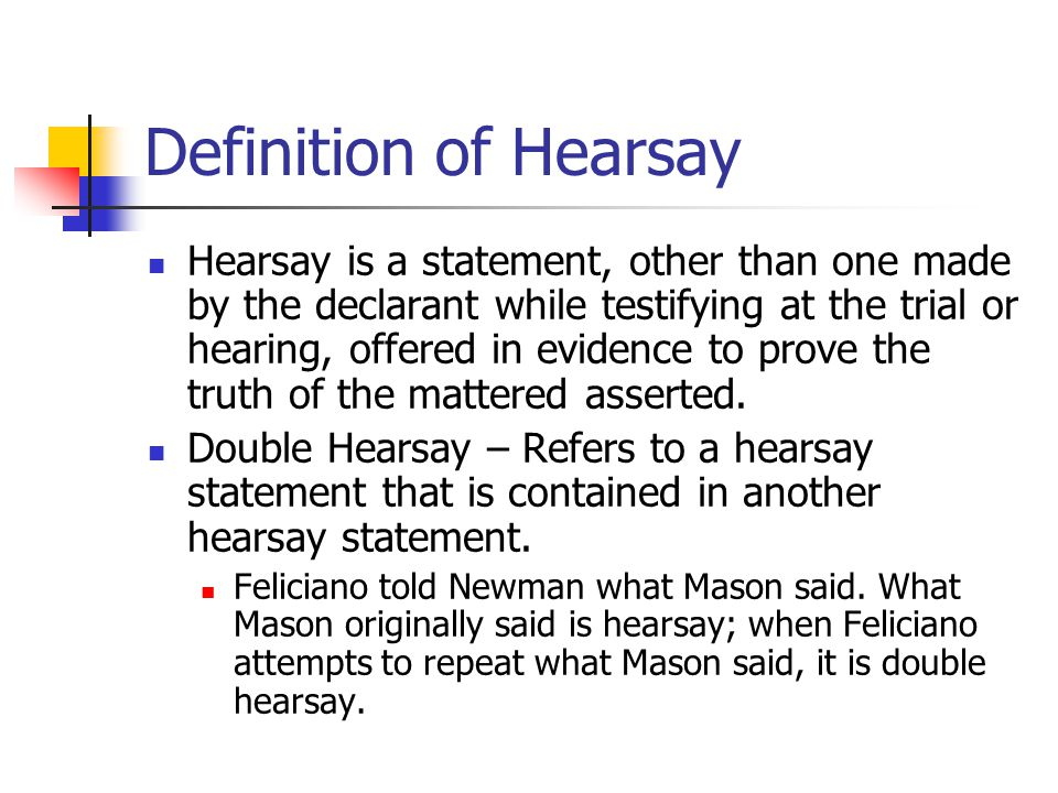 Definition of Hearsay