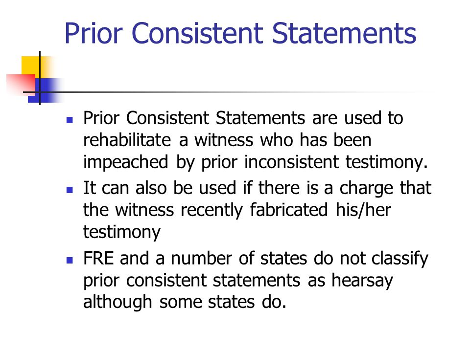 Prior Consistent Statements