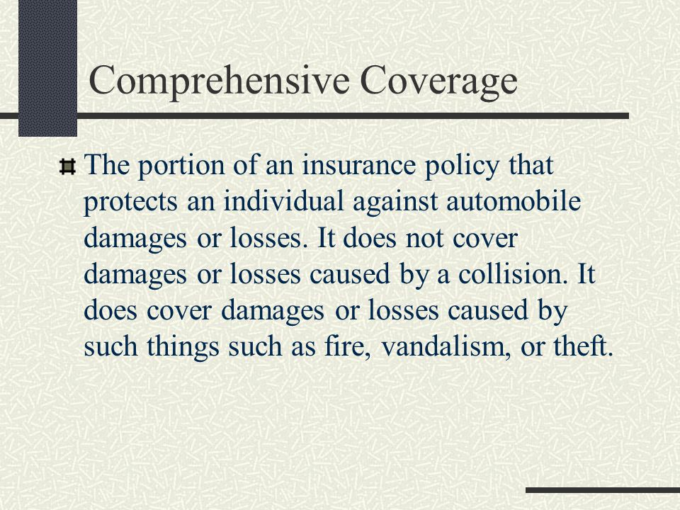 Comprehensive Coverage