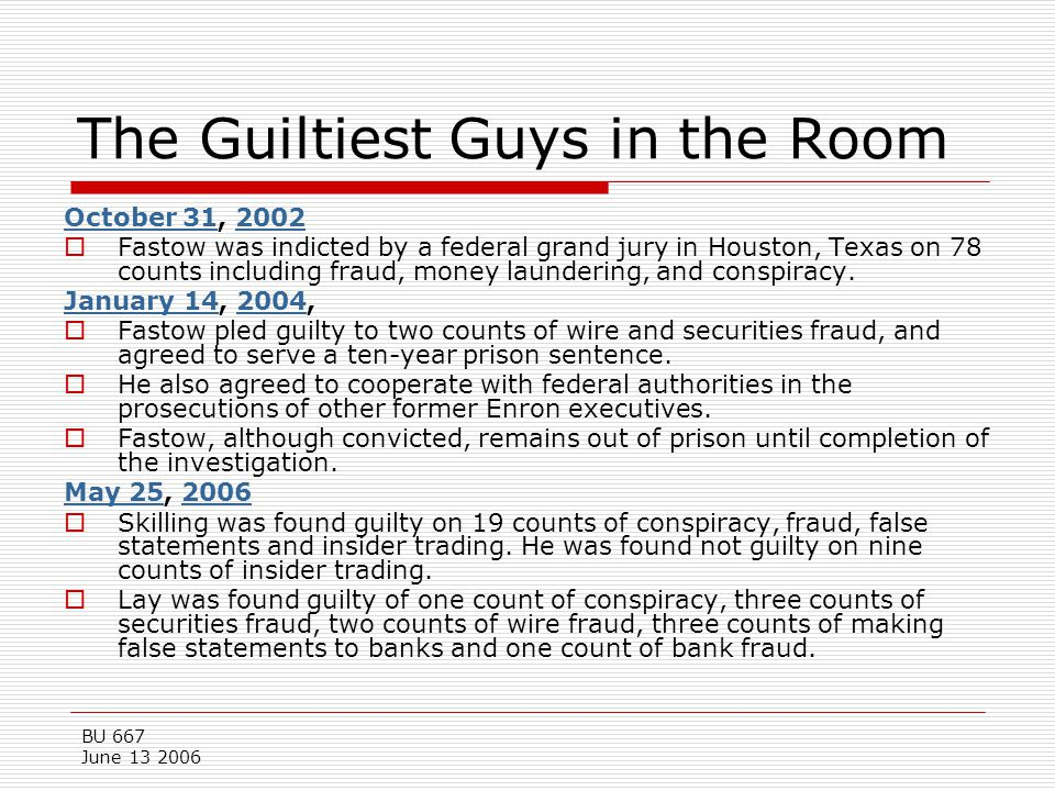 The Guiltiest Guys in the Room