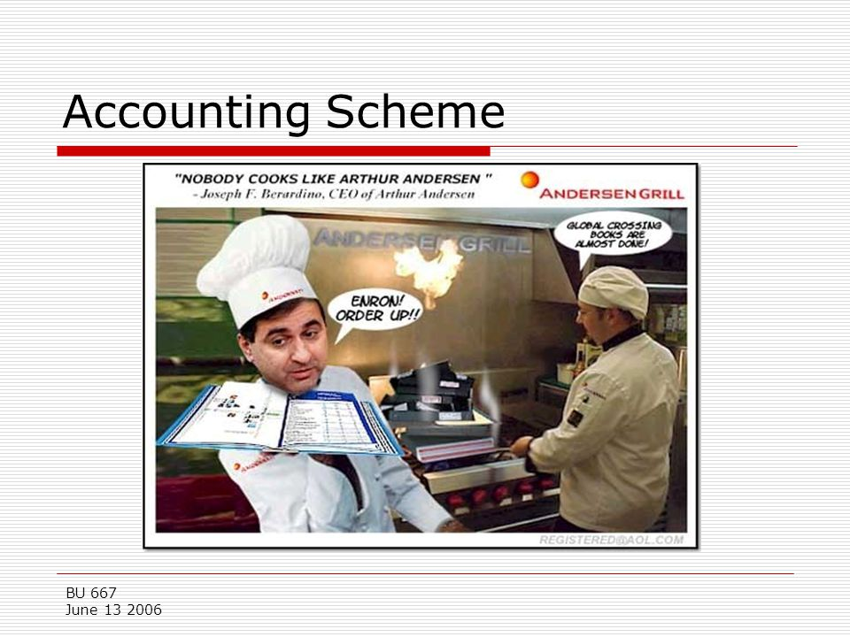 Accounting Scheme BU 667 June 13 2006
