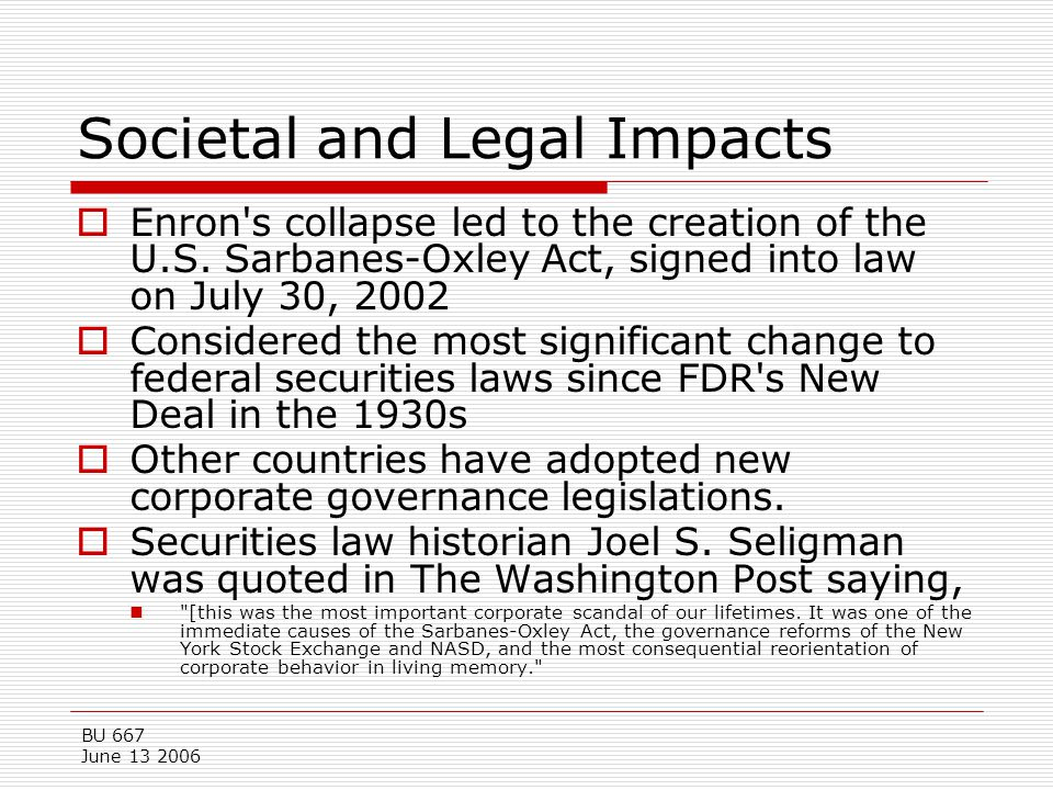 Societal and Legal Impacts
