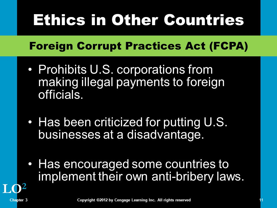Ethics in Other Countries