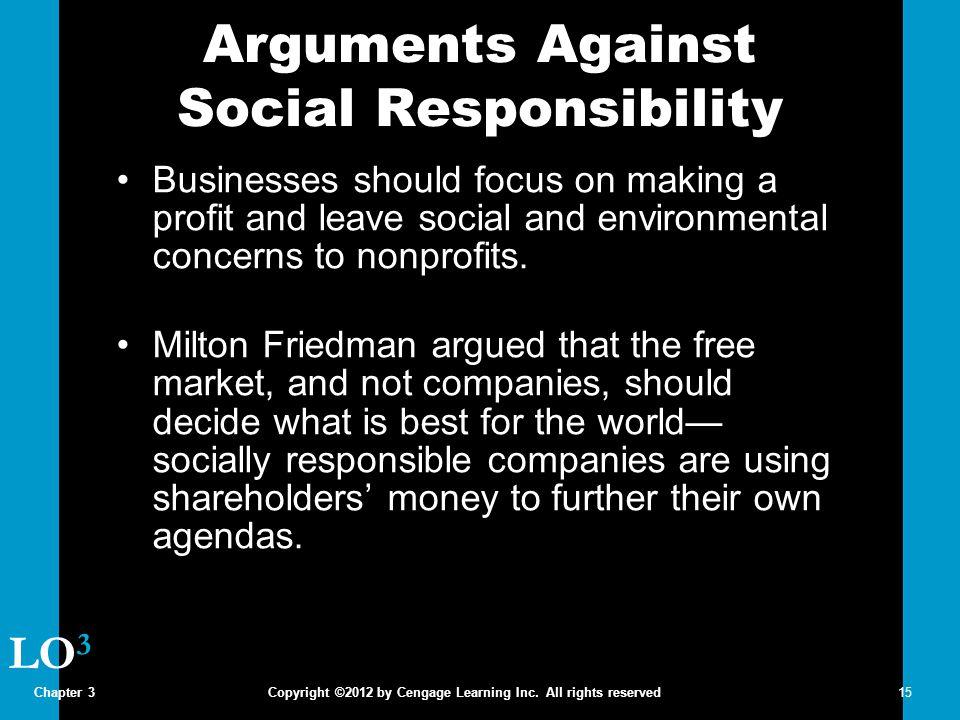 Arguments Against Social Responsibility