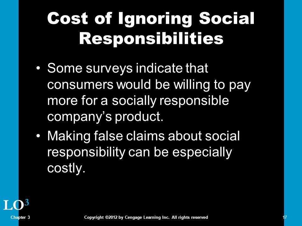 Cost of Ignoring Social Responsibilities