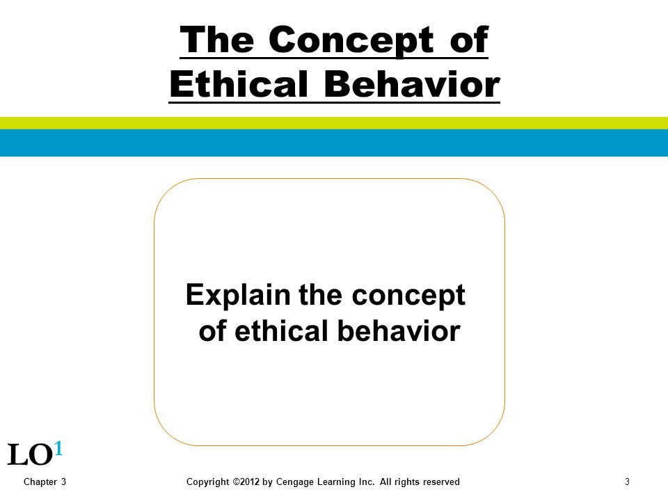 The Concept of Ethical Behavior