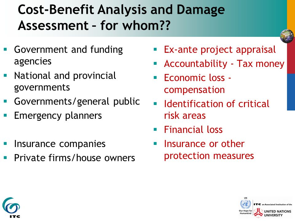 Cost-Benefit Analysis and Damage Assessment – for whom