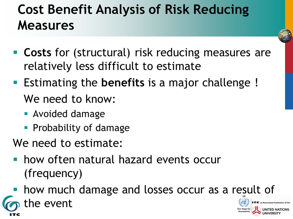 Cost Benefit Analysis of Risk Reducing Measures