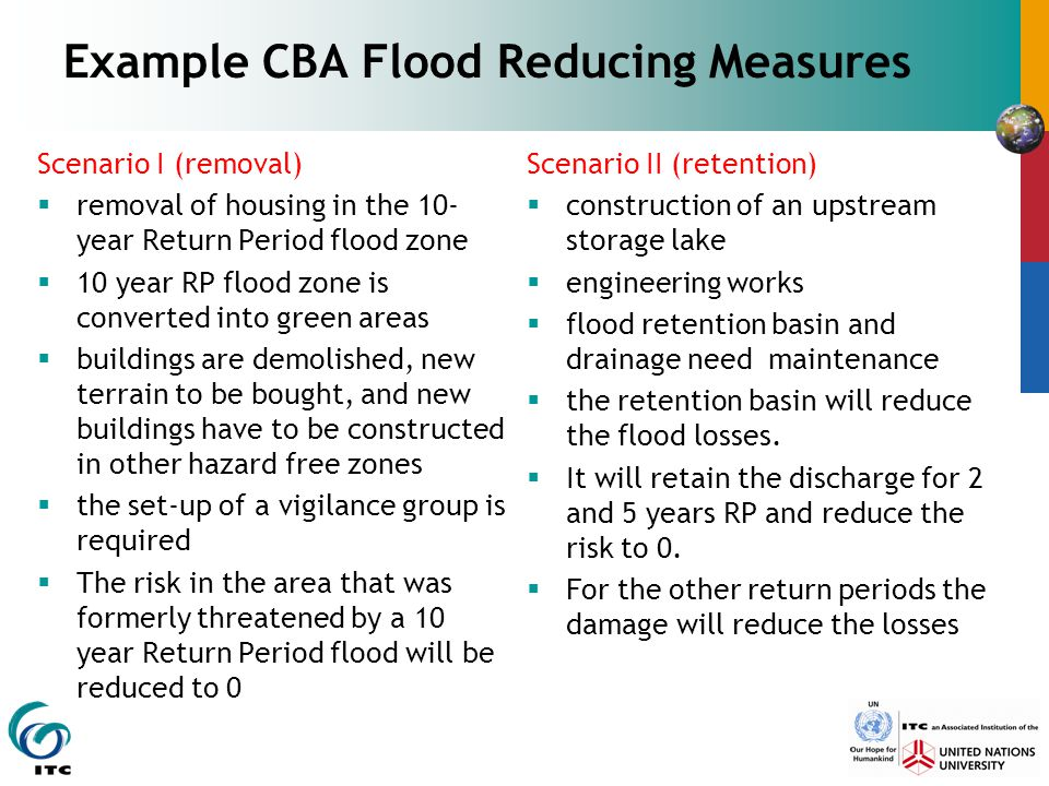 Example CBA Flood Reducing Measures