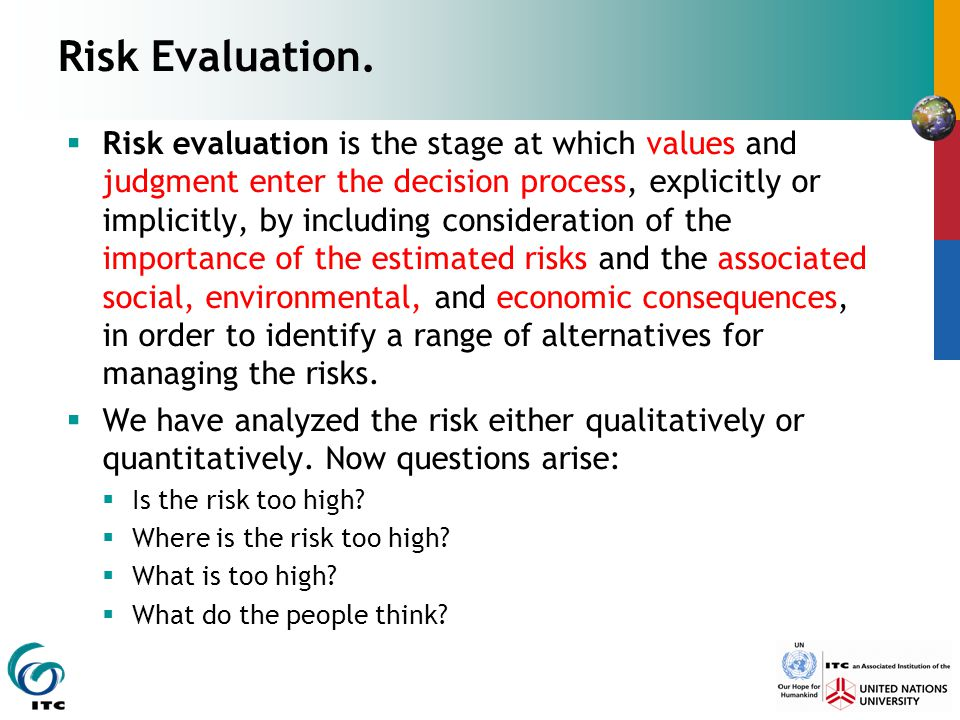 Risk Evaluation.