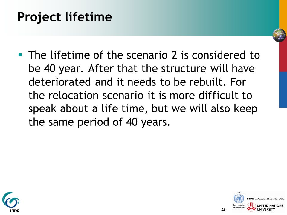 Project lifetime