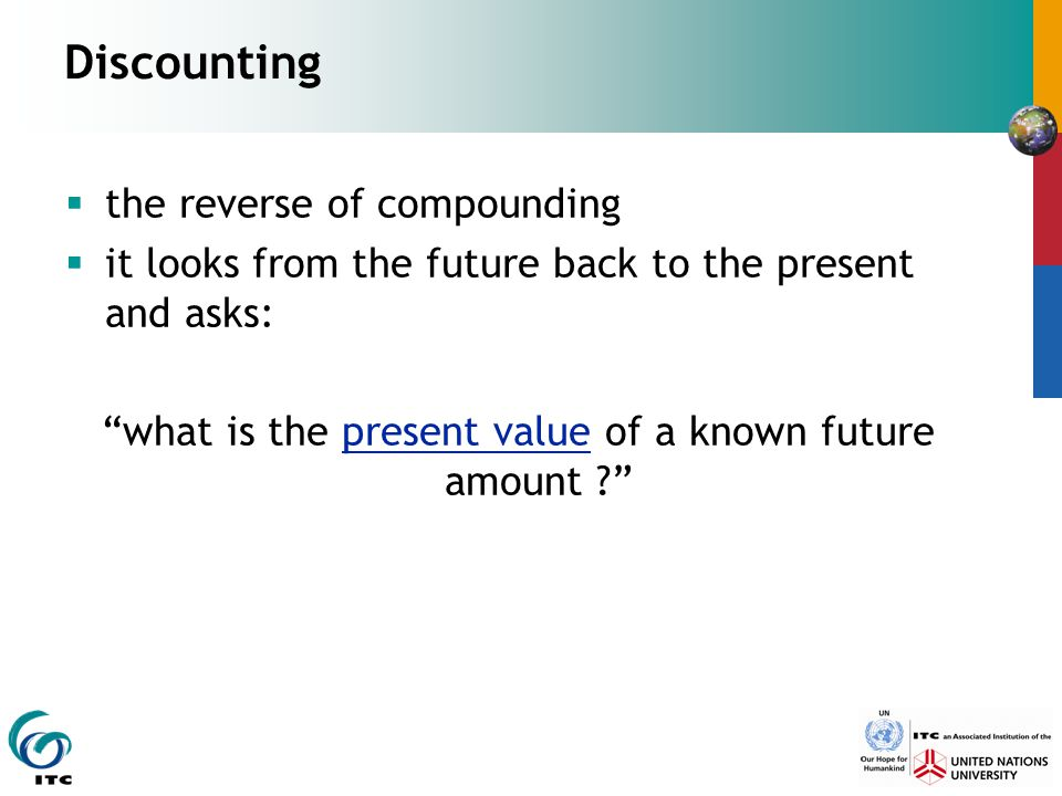 what is the present value of a known future amount