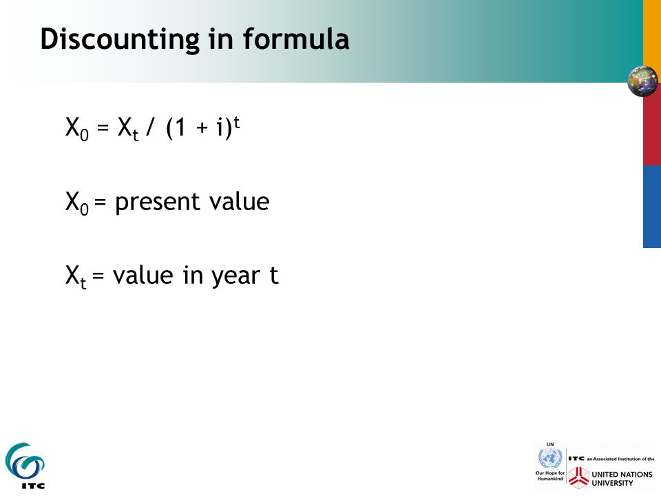 Discounting in formula