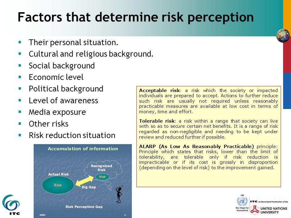 Factors that determine risk perception