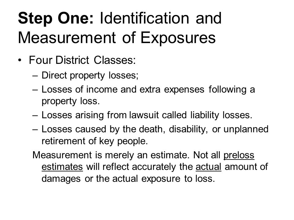 Step One: Identification and Measurement of Exposures
