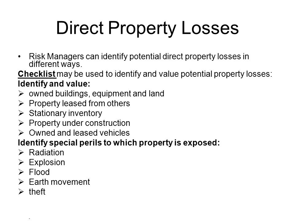 Direct Property Losses