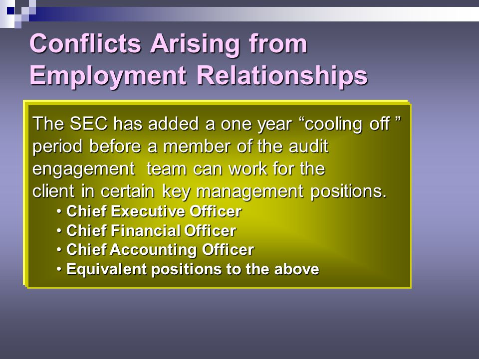 Conflicts Arising from Employment Relationships