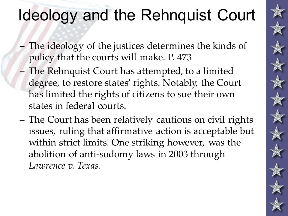 Ideology and the Rehnquist Court