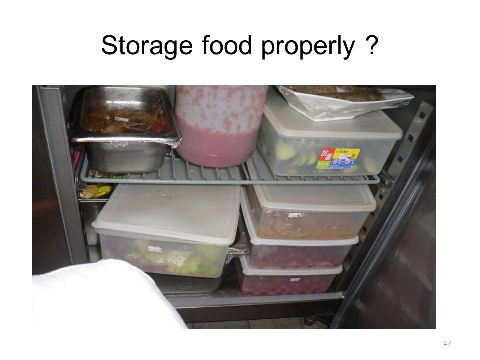 Storage food properly