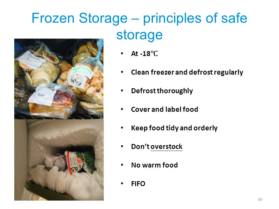 Frozen Storage – principles of safe storage
