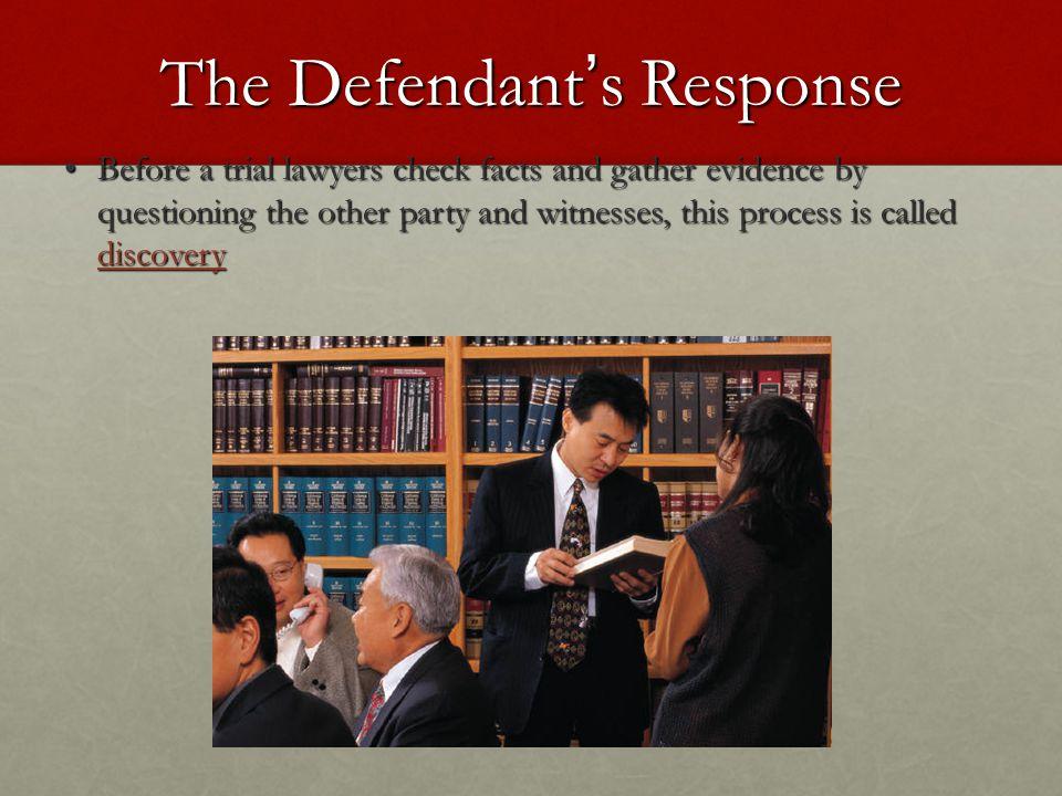 The Defendant's Response