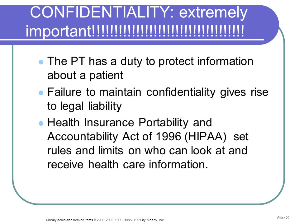 CONFIDENTIALITY: extremely important!!!!!!!!!!!!!!!!!!!!!!!!!!!!!!!!!!!