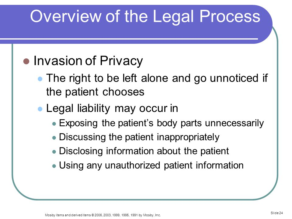 Overview of the Legal Process