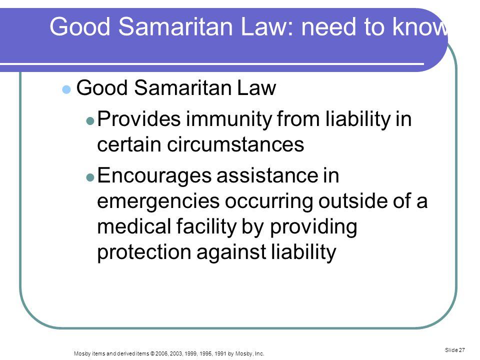 Good Samaritan Law: need to know