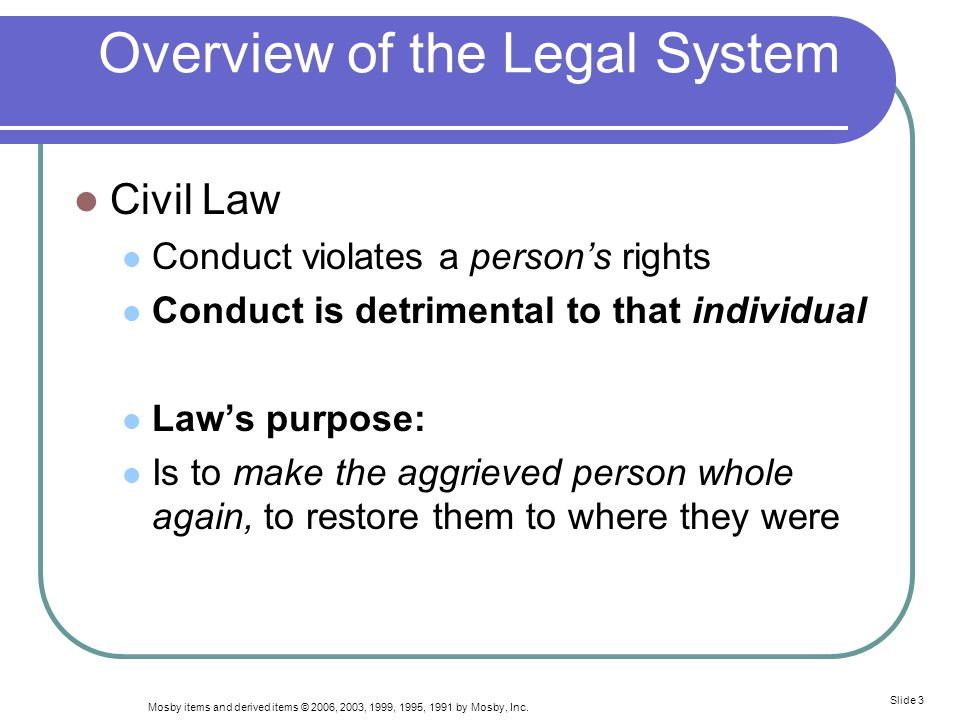 Overview of the Legal System