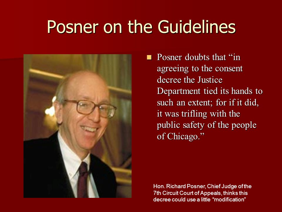 Posner on the Guidelines