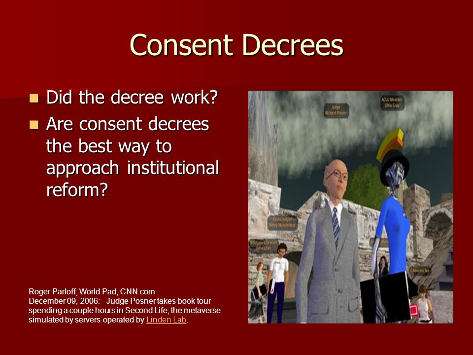 Consent Decrees Did the decree work
