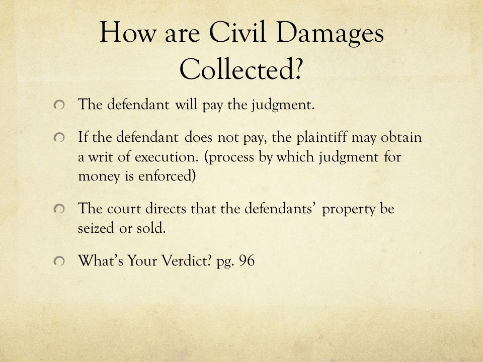 How are Civil Damages Collected